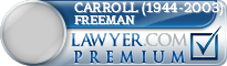 Carroll (1944-2003) Freeman  Lawyer Badge