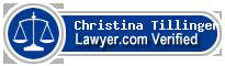 Christina S. Tillinger  Lawyer Badge