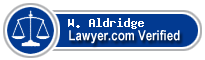 W. Sidney Aldridge  Lawyer Badge