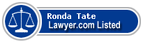 Ronda Tate Lawyer Badge