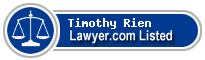 Timothy Rien Lawyer Badge
