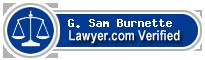 G. Sam Burnette  Lawyer Badge