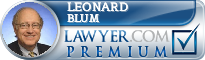 Leonard C. Blum  Lawyer Badge