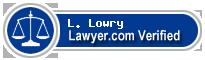 L. Stanton Lowry  Lawyer Badge