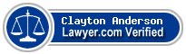 Clayton G. Anderson  Lawyer Badge