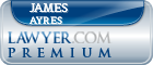 James E. Ayres  Lawyer Badge