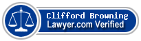 Clifford W. Browning  Lawyer Badge