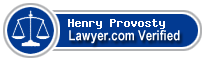 Henry St. Paul Provosty  Lawyer Badge