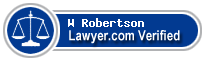 W Marsh Robertson  Lawyer Badge