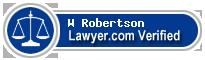 W Marsh Robertson  Lawyer Badge