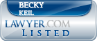 Becky Keil Lawyer Badge