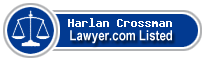 Harlan Crossman Lawyer Badge
