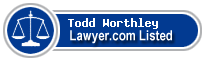 Todd Worthley Lawyer Badge