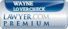 Wayne L. Lovercheck  Lawyer Badge