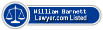 William Barnett Lawyer Badge