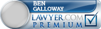 Ben F. Galloway  Lawyer Badge