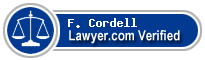 F. Thomas Cordell  Lawyer Badge