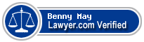 Benny McCalip May  Lawyer Badge