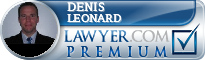 Denis Leonard  Lawyer Badge