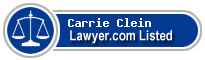 Carrie Clein Lawyer Badge