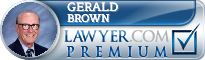 Gerald L Brown  Lawyer Badge