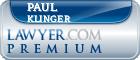 Paul Wesley Klinger  Lawyer Badge
