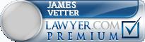 James G. Vetter  Lawyer Badge