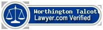 Worthington H. Talcott  Lawyer Badge