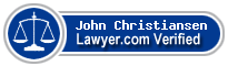John Adams Christiansen  Lawyer Badge