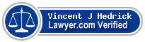 Vincent J X. Hedrick  Lawyer Badge