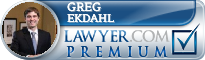Greg J. Ekdahl  Lawyer Badge
