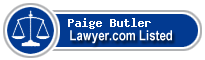 Paige Butler Lawyer Badge