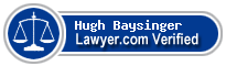 Hugh A. Baysinger  Lawyer Badge