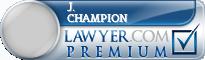 J. Brad Champion  Lawyer Badge