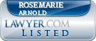 Rosemarie Arnold Lawyer Badge