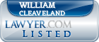 William Cleaveland Lawyer Badge
