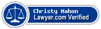 Christy E. Mahon  Lawyer Badge