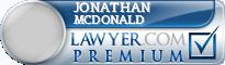 Jonathan McDonald  Lawyer Badge