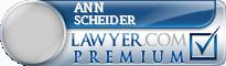 Ann Scheider  Lawyer Badge
