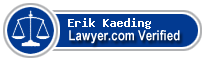 Erik P. Kaeding  Lawyer Badge