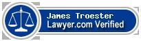 James F. Troester  Lawyer Badge