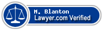 M. Eldridge Blanton  Lawyer Badge
