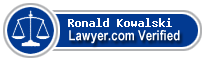 Ronald E. Kowalski  Lawyer Badge
