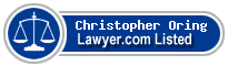 Christopher Oring Lawyer Badge