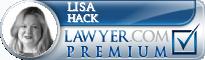 Lisa A. Hack  Lawyer Badge
