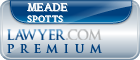 Meade A. Spotts  Lawyer Badge