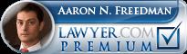 Aaron N. Freedman  Lawyer Badge
