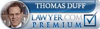 Thomas J Duff  Lawyer Badge