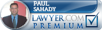Paul Michael Sahady  Lawyer Badge