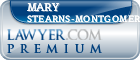 Mary A. Stearns-Montgomery  Lawyer Badge